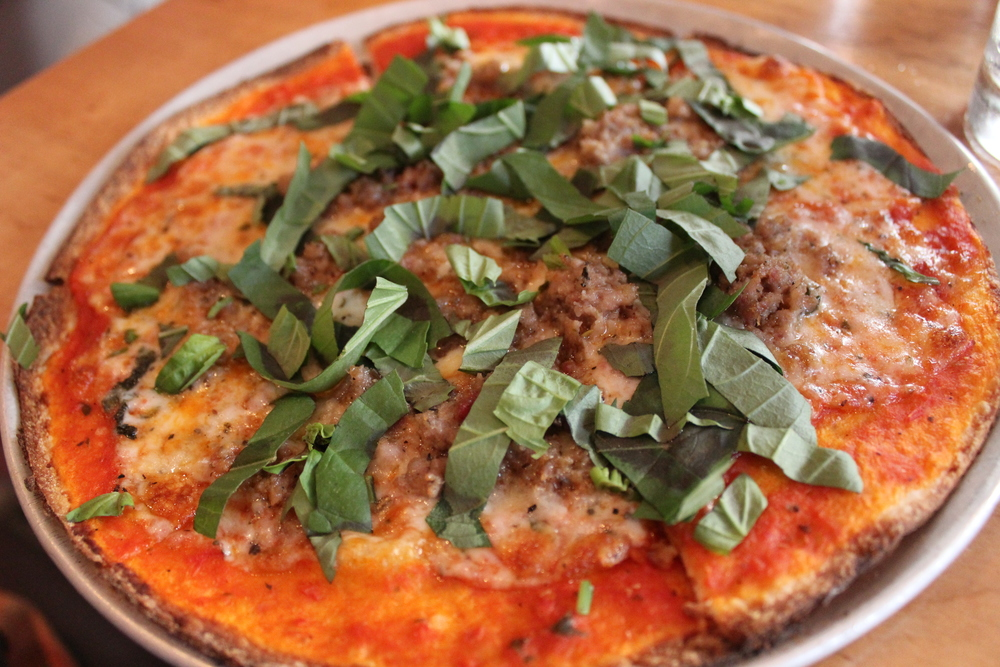 Marinara Sauce and Cheese, Sweet Italian Sausage and Fresh Basil