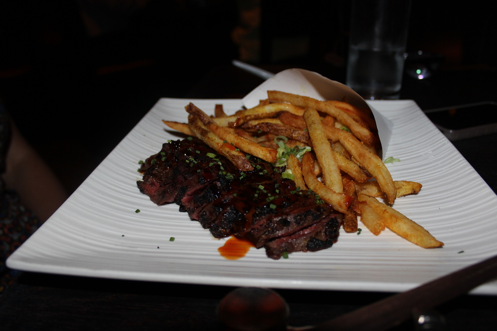 Hanger Steak with Miso and Asian Spiced Fries