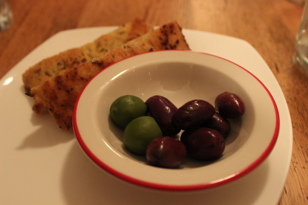 Complimentary Focaccia and Olives