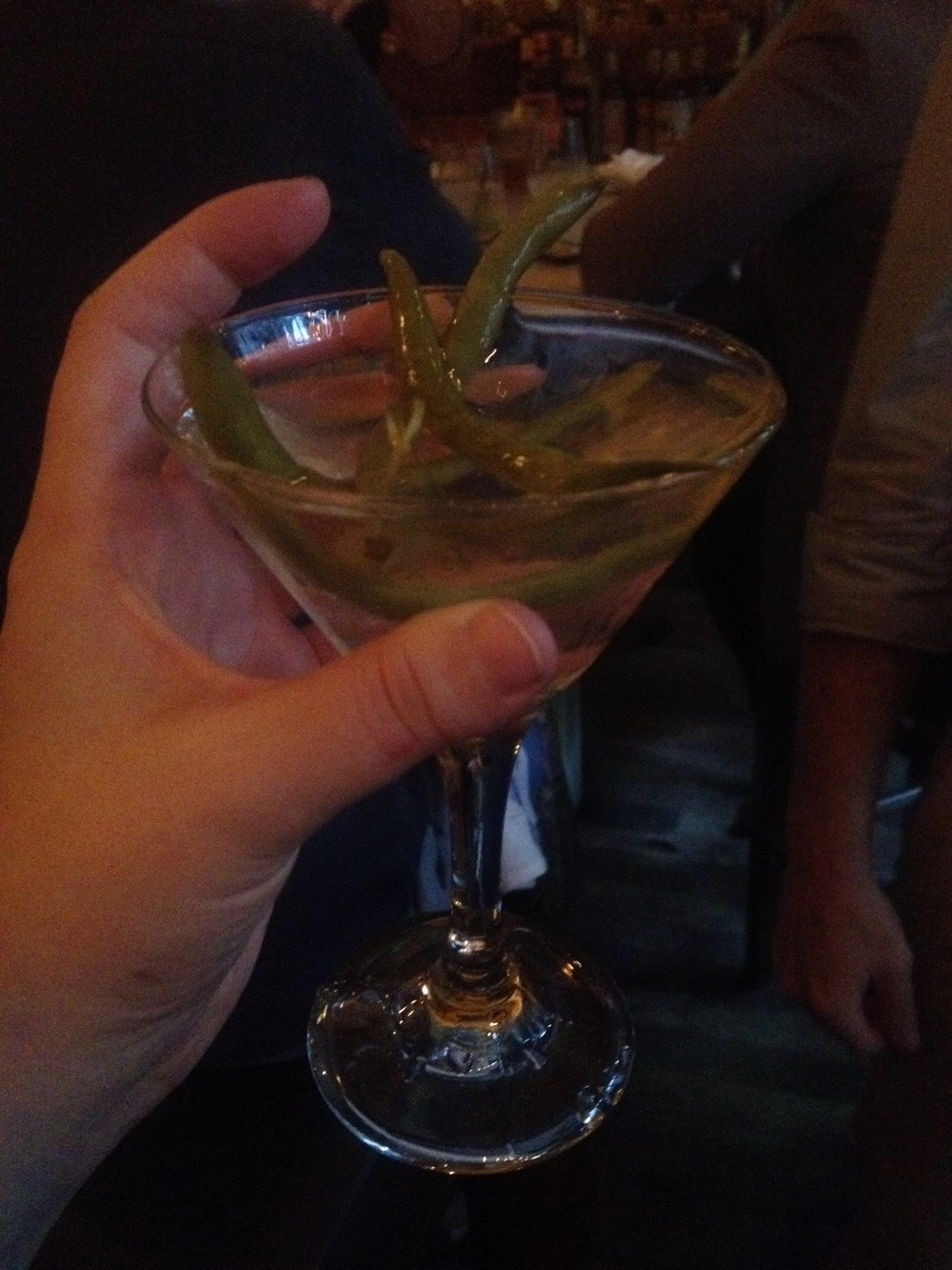"Dirty Martini with Pickle Brine: the ""Dirty Aphrodite"""