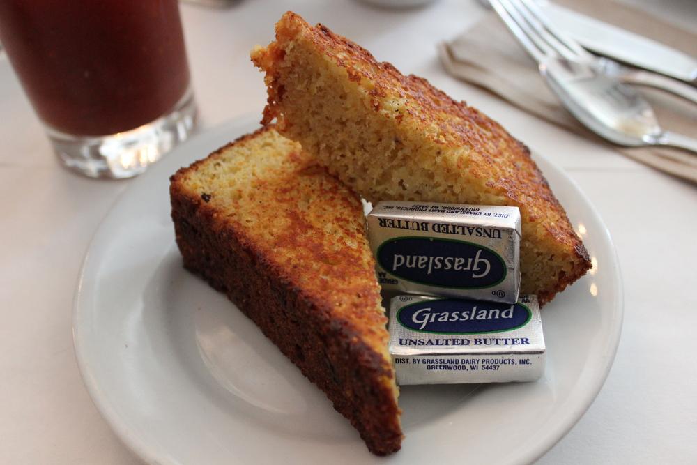 Griddled Cheddar Cornbread