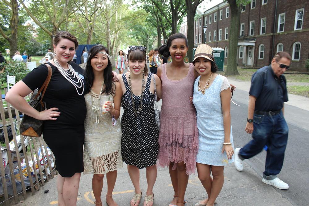 I ran into some Stern ladies: Connie, Jillian, Elizabeth and Megan