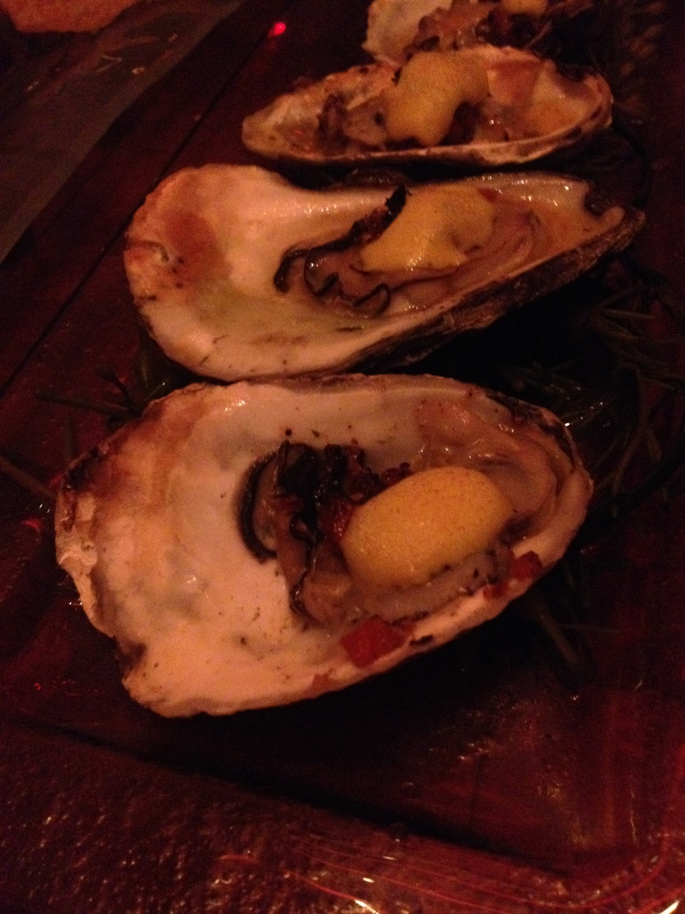 Char-Grilled Chimichui Oysters