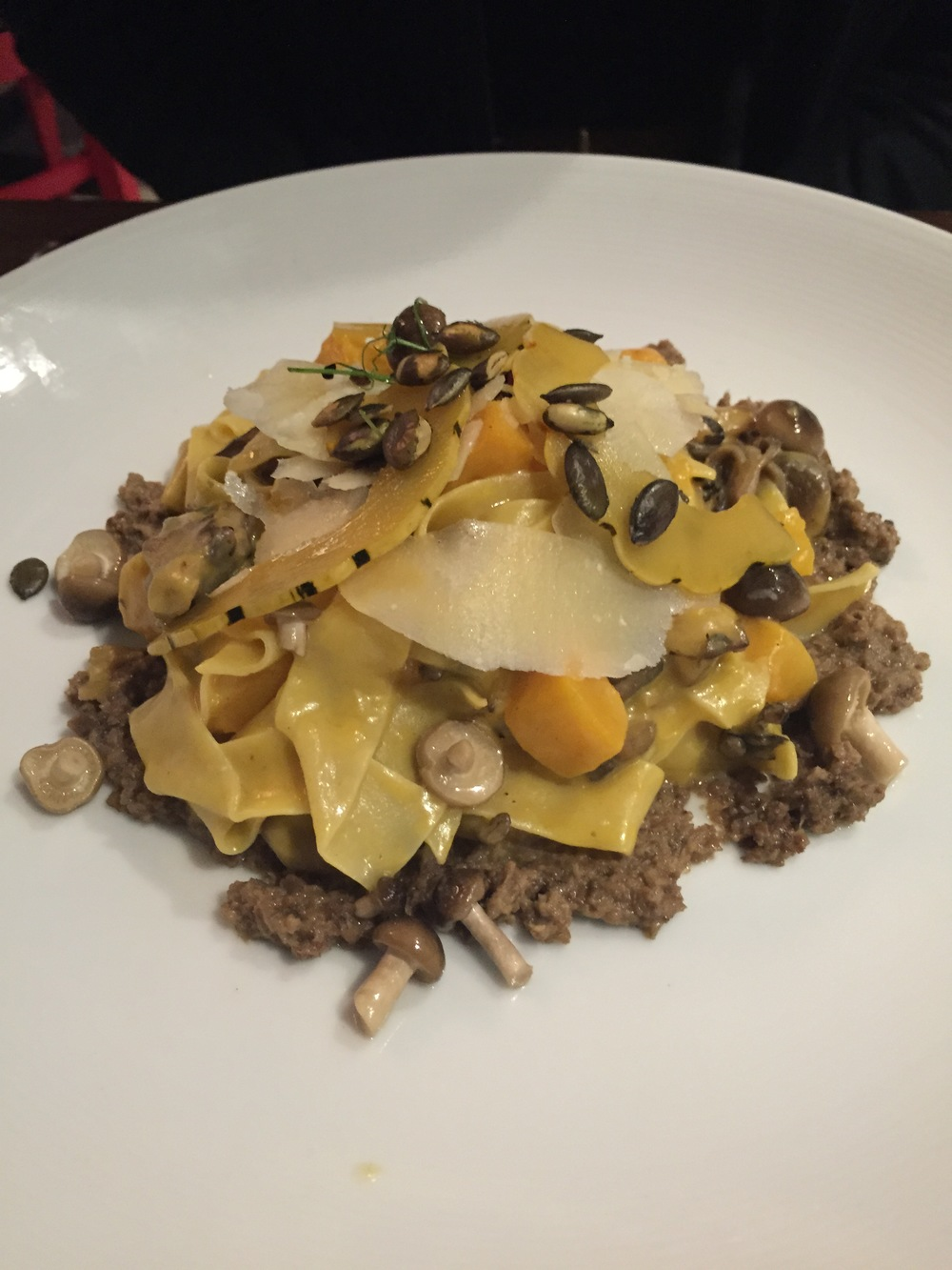 Butternut Squash and Wild Mushroom Pappardelle