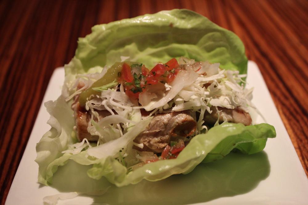 Tuna lettuce tacos!