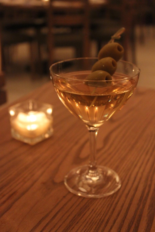 Clarified Bloody Mary Martini