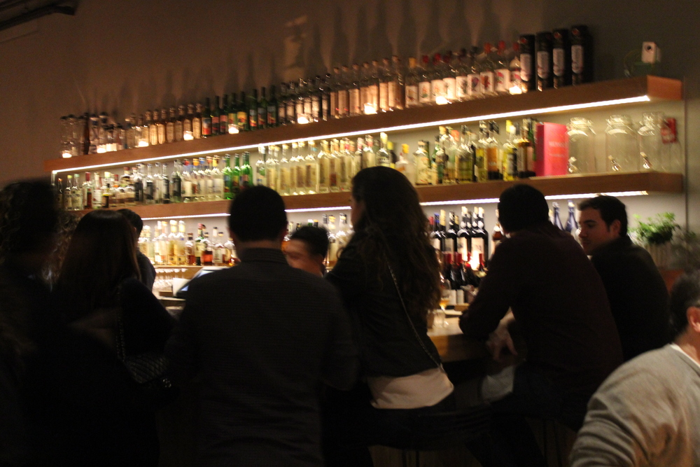 A lively bar scene