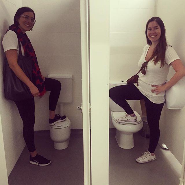 Tiny toilet, full hearts, can't lose.