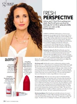 Andie MacDowell tells me about beauty and life after 40.