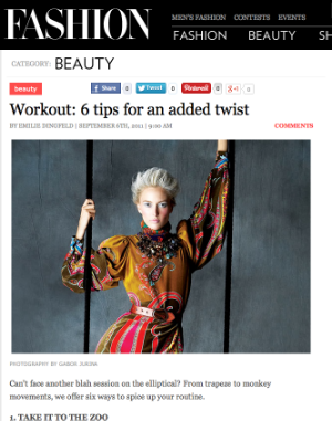 A print and web story about fitness trends.