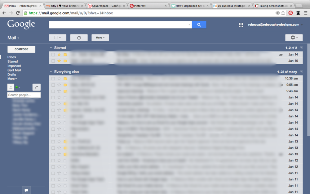 Arranged my inbox to show STARRED emails at the top as a constant reminder! Brilliant. Google is the best!