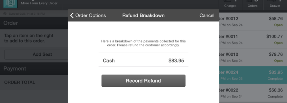 Refund Breakdown