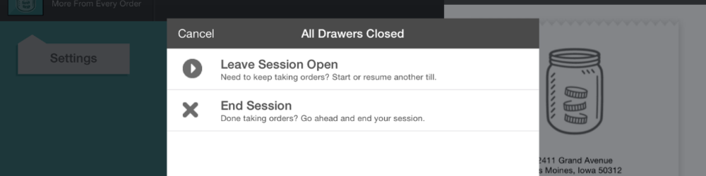 Leave Session Open