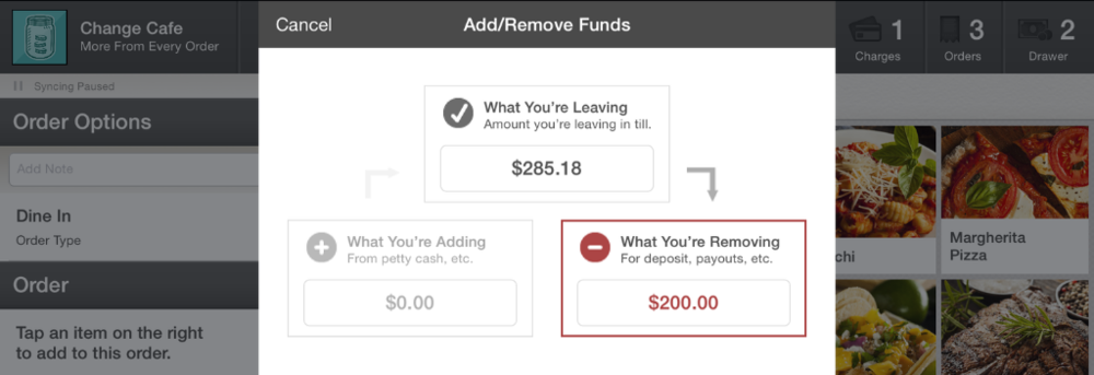 Removing Funds
