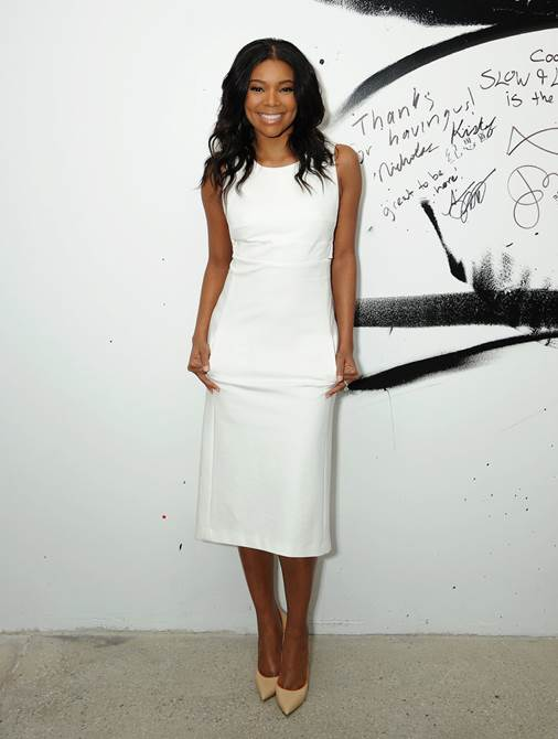 Gabrielle Union stuns in our Schumacher Spring dress.  The back of this one is even more beautiful than the front.  We still have available sizes in black in store.