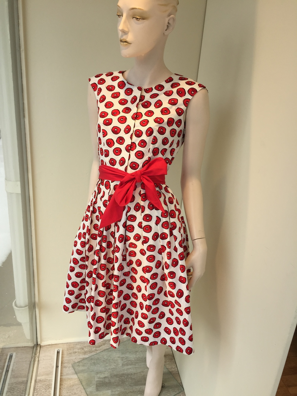 Samantha Sung has perfected the cotton shirt dress and we have a number of different versions in store now. This retro print with the full skirt is a personal favorite.