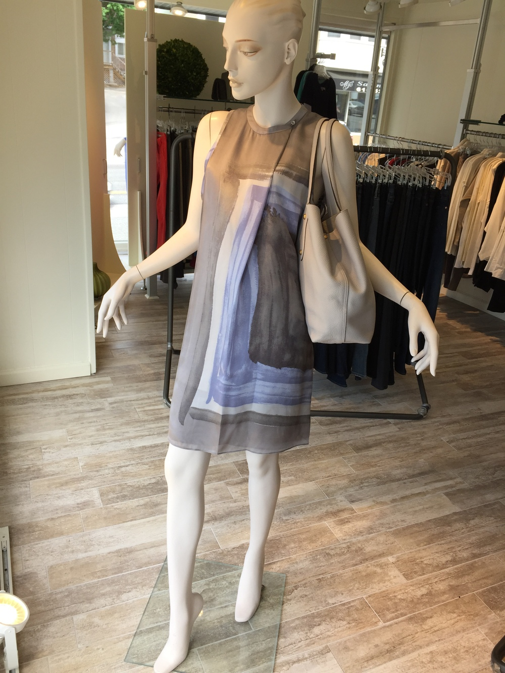 This scarf print silk dress from Halston is a great dress for summer...as an everyday dress or even as a summer daytime event dress.