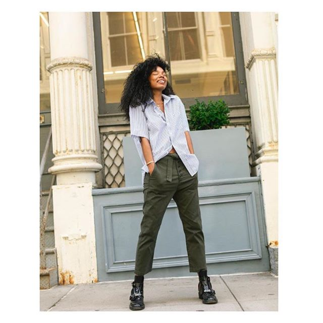 Swap your denim for the @3x1 olive chino pant . . . #latricefashion #3x1 #chinopant #Fall2018 #mainline #brynmawr #shoplocal