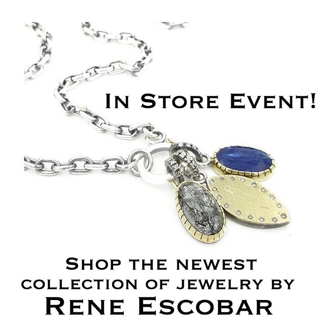 Join us today from 11am-5pm to view the newest collection by @escobarjewelry! . . .  #latricefashion #trunkshow #jewelry #reneescobar #mainline #brynmawr #shoplocal