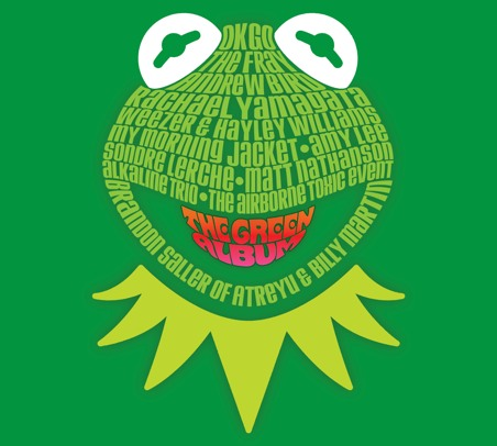 "On November 23rd, Disney will release  Muppets: The Green Album .   01 OK Go: ""Muppet Show Theme""  02 Weezer and Hayley Williams: ""Rainbow Connection""  03 The Fray: ""Mahna Mahna""  04 Alkaline Trio: ""Moving Right Along""  05 My Morning Jacket: ""Our World""  06 Amy Lee: ""Halfway Down the Stairs""  07 Sondre Lerche: ""Mr. Bassman""  08 The Airborne Toxic Event: ""Wishing Song""  09 Atreyu's Brandon Saller and Good Charlotte's Billy Martin: ""Night Life""  10 Andrew Bird: ""Bein' Green""  11 Matt Nathanson: ""I Hope That Something Better Comes Along""  12 Rachael Yamagata: ""I'm Going to Go Back There Someday"""