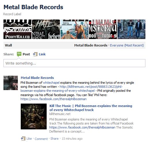 jordanmohler: Metal Blade Records just linked to my website; I feel special. :D This is awesome!