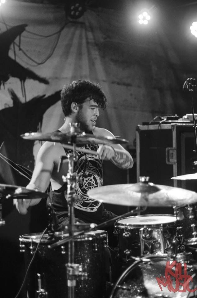 Drummer of Like Moths To Flames Greg Diamond