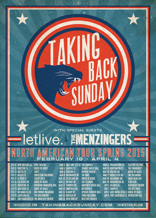 Taking Back Sunday announce Spring Tour with letlive — Kill The Music