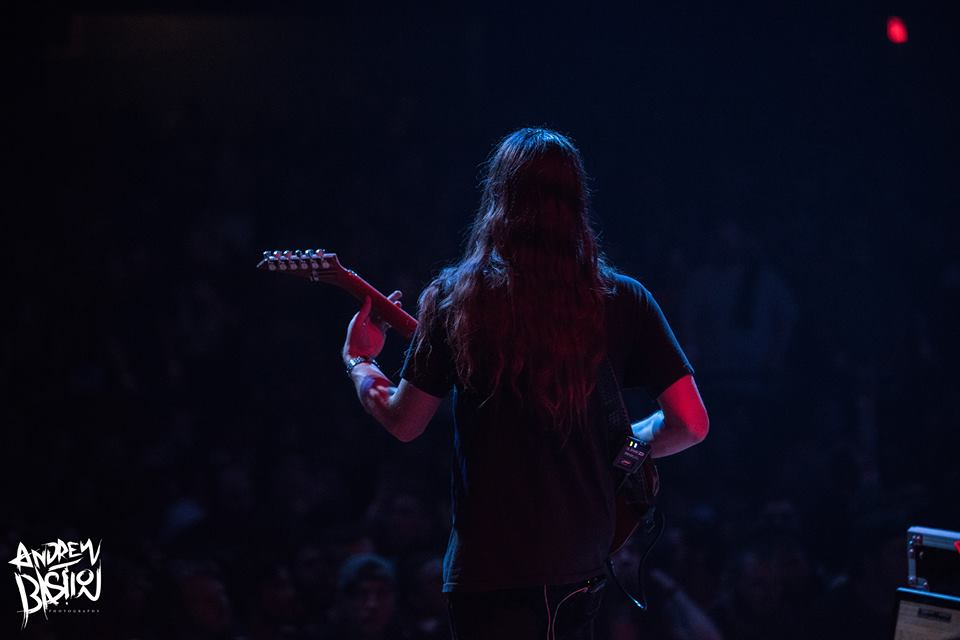 Michael Keene of The Faceless at Cleveland's Agora Theatre, Summer Slaughter 8/26/17