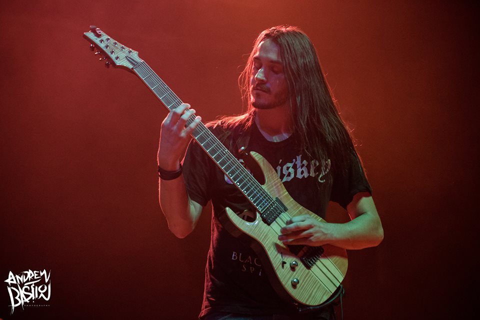 Miles Dimitri Baker of Rings of Saturn Summer Slaughter Tour 8-26-2017