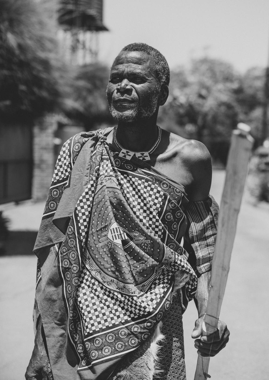 Mkhulu Shongwe of the Bashayi Bengoma Ensemble