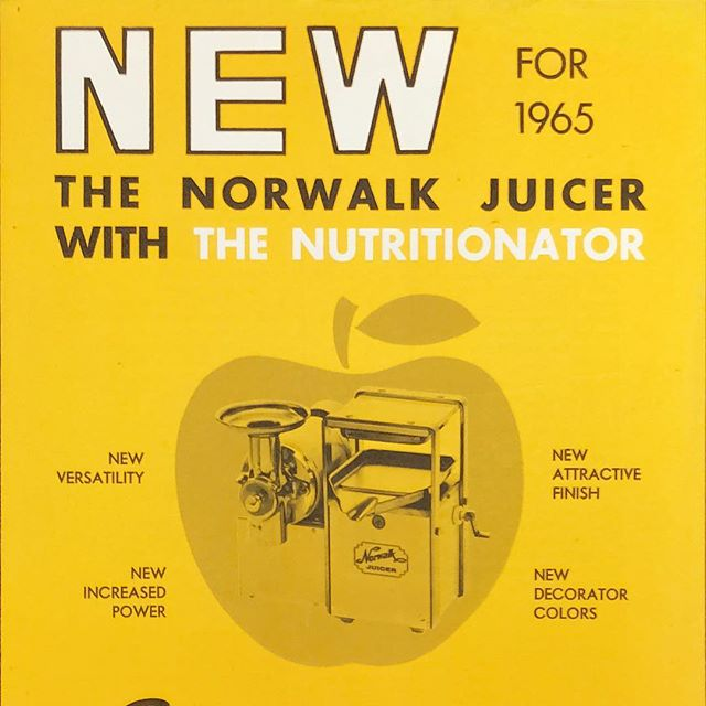 An old brochure from 1965 #norwalkjuicer #juiceforlife