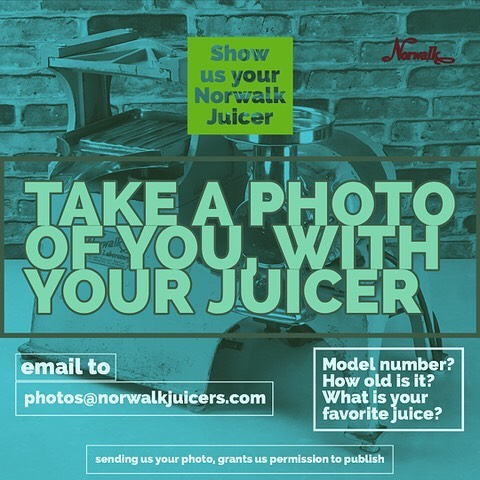 Show us a photo of you with your Norwalk Juicer, let us know the model number and your favorite thing to make with it. Email to photos@norwalkjuicers to be featured on a page. Your submission grants us permission to publish #norwalkjuicers #juiceforlife#healthyfood #healthylifestyle