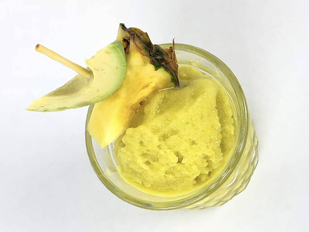Kick it Up - 1 Avocado4 Mangos1 Jalapeno4 one inch slices Pineapple