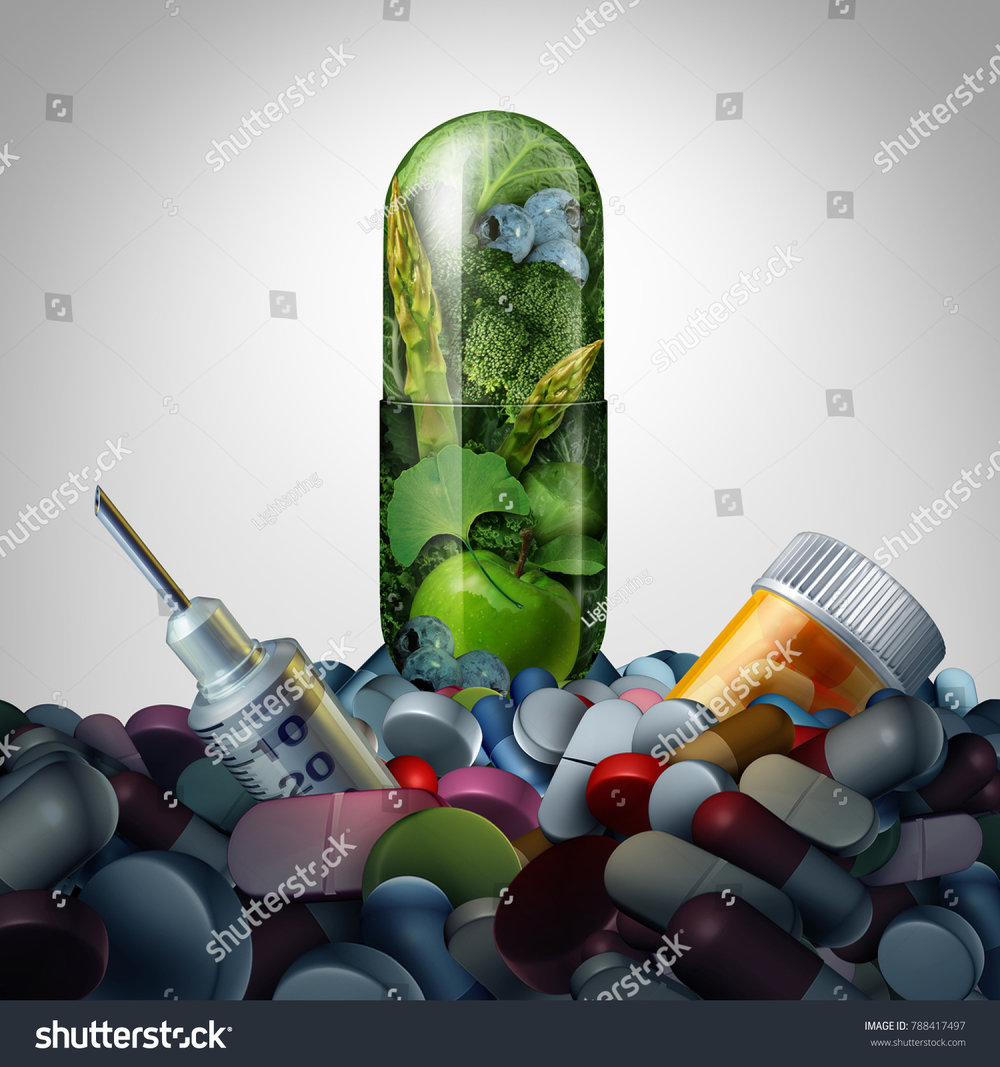 stock-photo-alternative-medicine-supplement-concept-as-natural-herbal-medication-in-a-capsule-versus-788417497.jpg