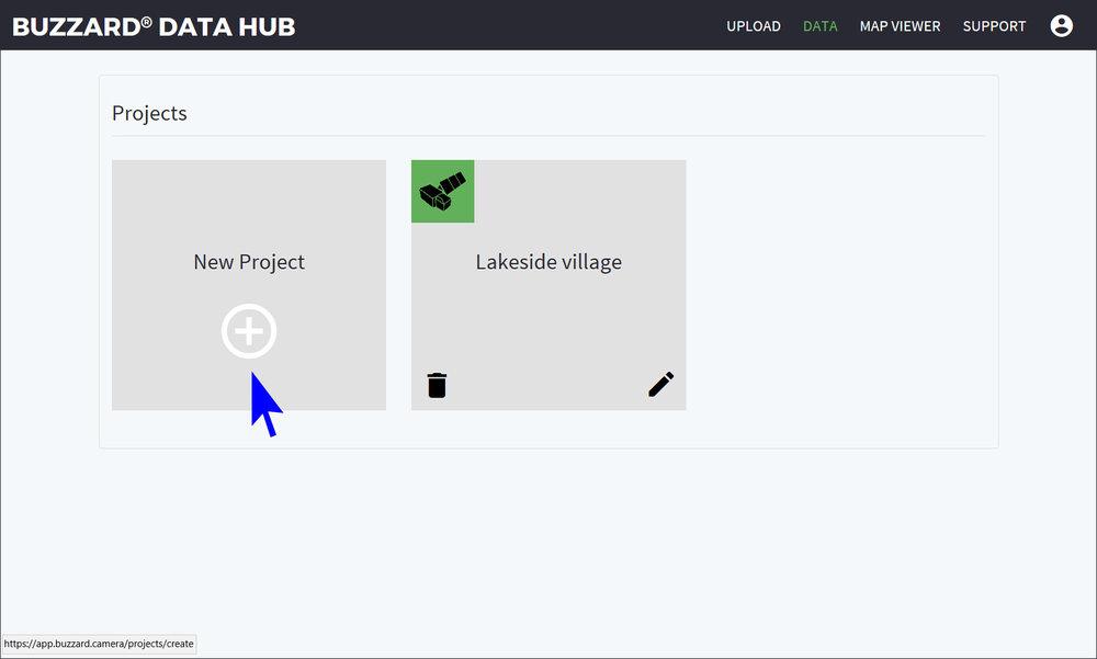 Buzzard Data Hub New Project