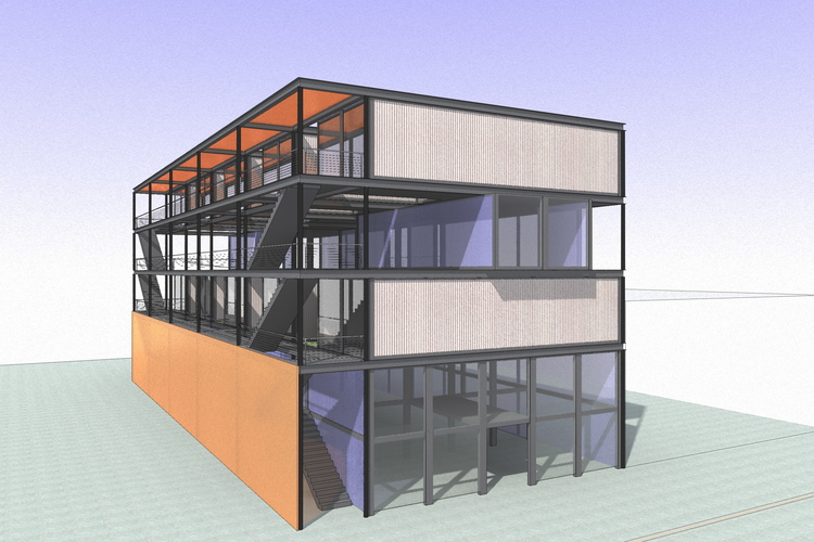 Nims Chapter Shipping Container House Revit