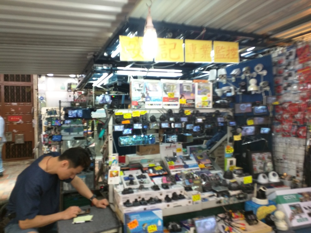 Above:  This roadside stand specializes in CCTV cameras and automation gadgets
