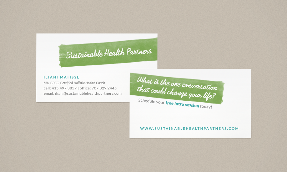 Flight Design Co. | Sustainable Health Partners Business Card