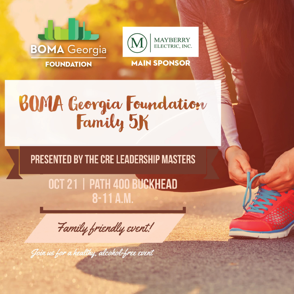 Event T-Shirt availability is limited. Registrations after the Oct. 6 early registration deadline are still accepted, but the receipt of a T-Shirt by the registrant is based on availability and is not guaranteed. REGISTRATION IS CLOSED. QUESTIONS? PLEASE EMAIL JWILDER@BOMAGEORGIA.ORG