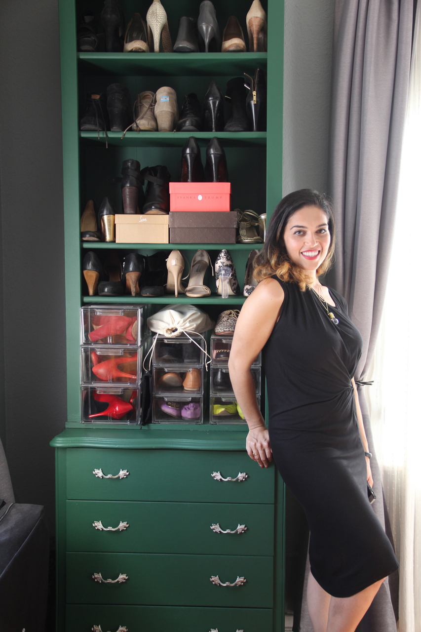 Great shoe storage solution in a great color.