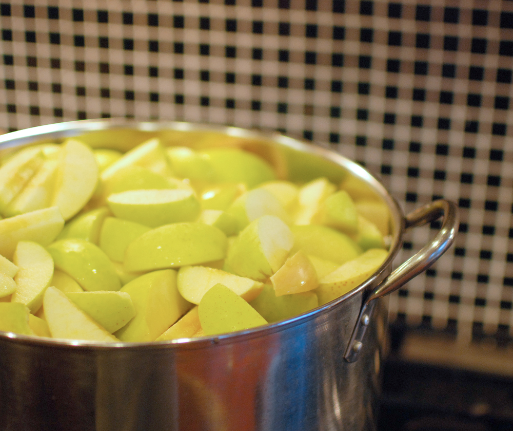 canning homemade applesauce