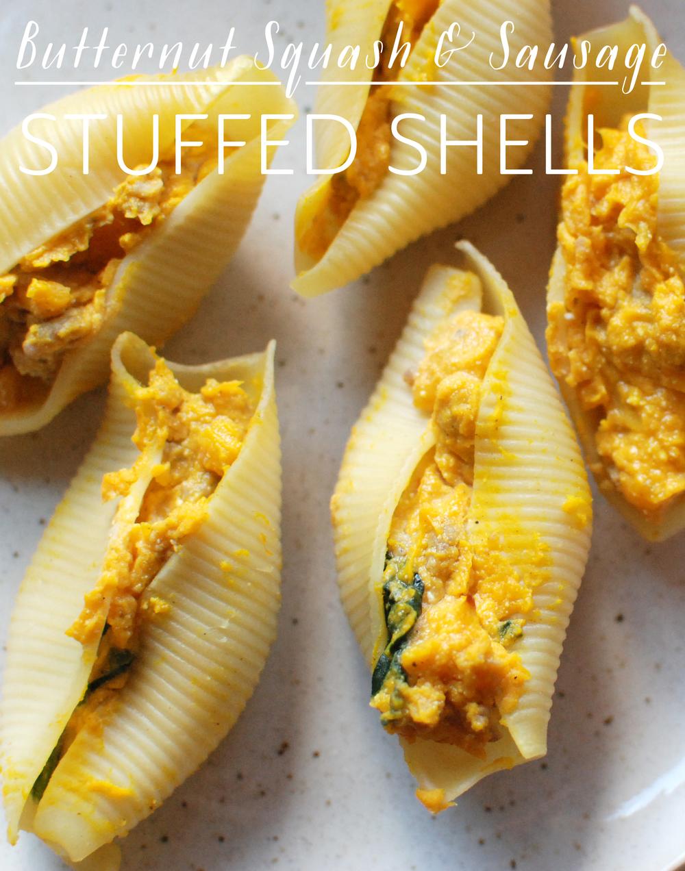 Butternut Squash and Sausage Stuffed Shells