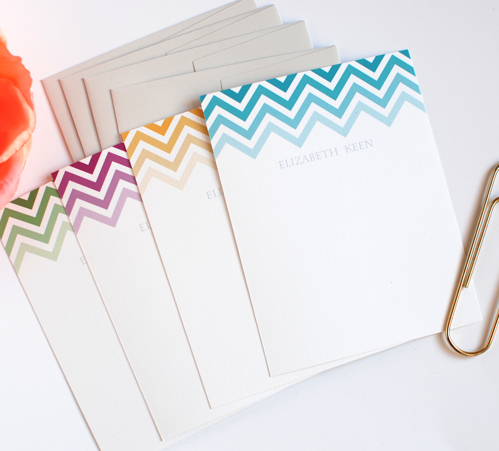 Chevron Stationery