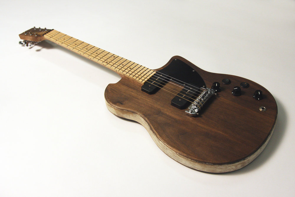 Spong Jr. Black Guitar