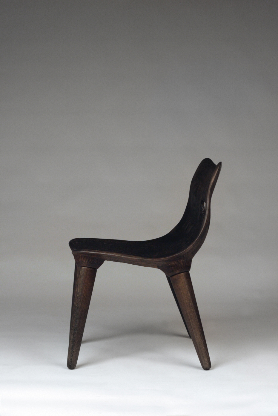"Black Hole Chair no.2  / White Oak  22"" x 25"" x 32"" / 2018  $3,500 (Original)  $2,850 (Commission order)"