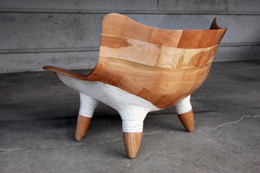 "Mushroom Chair / Cherry / 42"" x 25"" x 28"" / 2016 / $6,000 / SOLD / Commission Available"