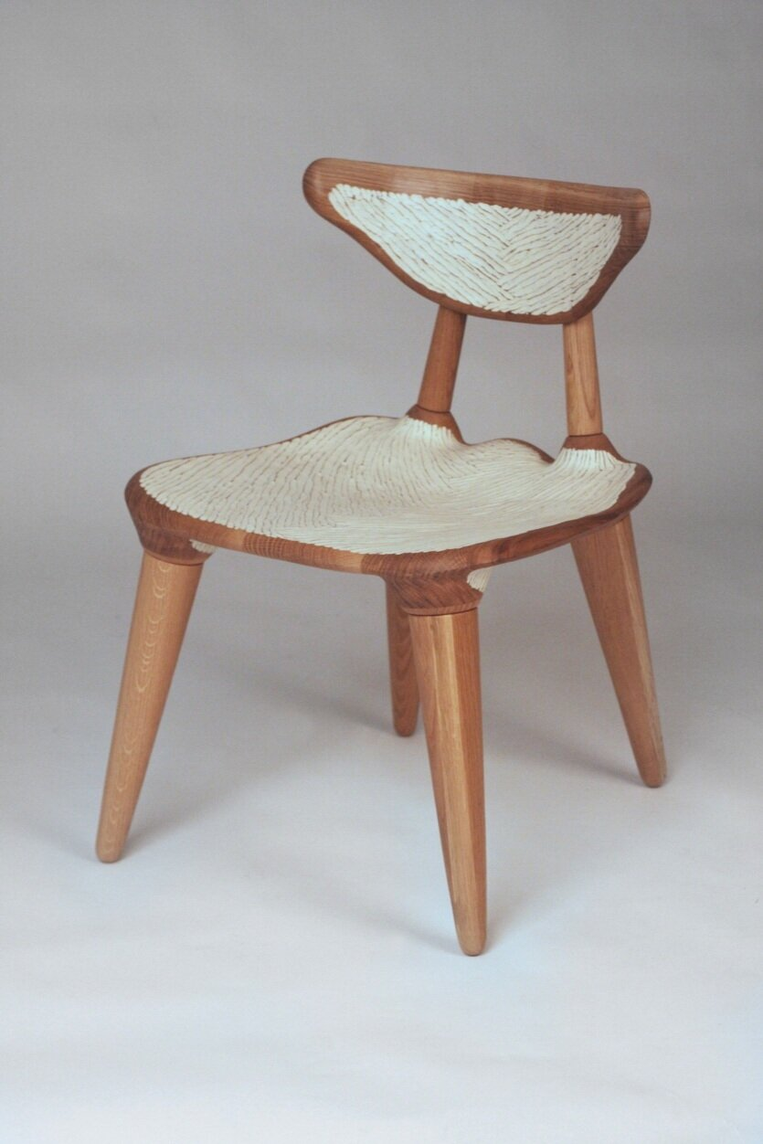 "Field Chair  / White Oak  20"" x 24"" x 30"" / 2018  $2,500 (Original)  $4,250/pair (Commission order)"