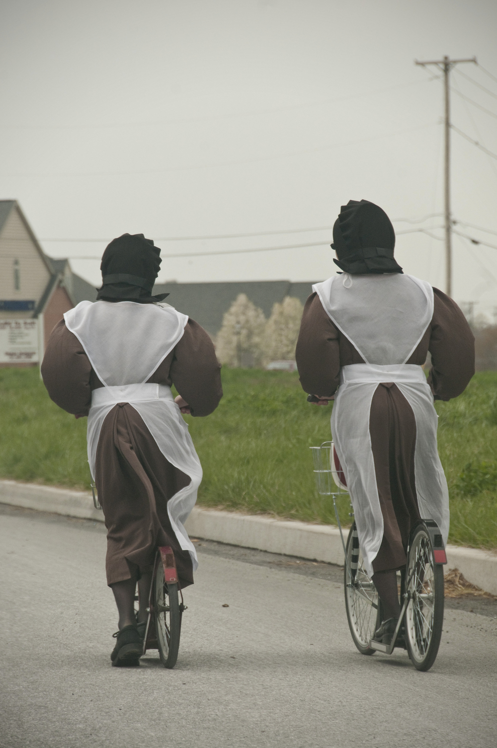 Amish scooter girls