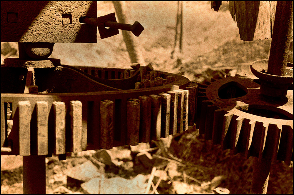 wooden gears from colonial era Principio Furnace