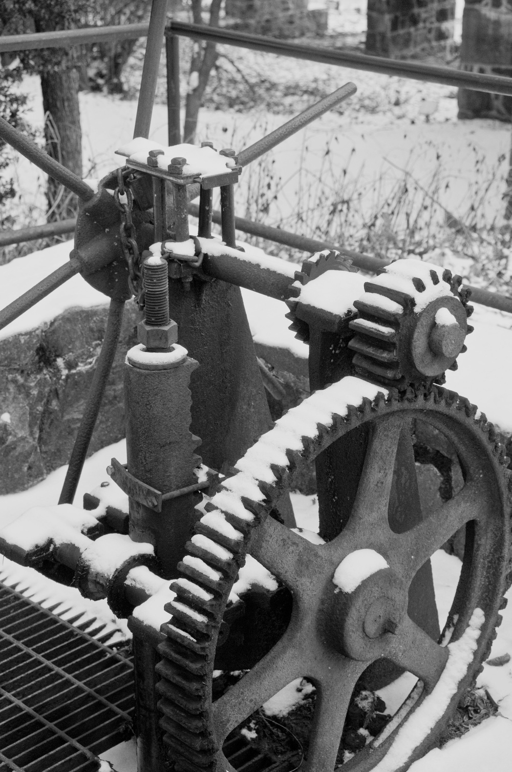 millrace gears at Hagley Museum